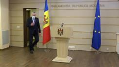 Briefing de presă susținut de fracțiunea Platforma DA în timpul ședinței Parlamentului Republicii Moldova din 3 decembrie 2020