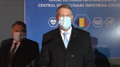Declarație de presă susținută de Președintele României, Klaus Iohannis, după vizita la Centru de vaccinare anti-COVID-19