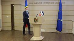 Briefing de presă susținut de grupul parlamentar PRO Moldova în timpul ședinței Parlamentului Republicii Moldova din 3 decembrie 2020