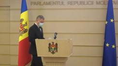 """Briefing de presă susținut de deputatul Octavian Țîcu cu tema """"Formalizarea alianței Dodon-Șor"""""""