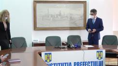 Conferință de presă susținută de președintele Consiliului Județean Iași, Costel Alexe, și prefectul județului Iași, Marian Grigoraș