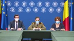 Conferință de presă de prezentare a strategiei de vaccinare împotriva SARS-CoV-2 în România