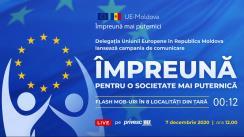 """Lansarea campaniei """"UE-Moldova: Împreună pentru o societate civilă mai puternică"""" de către Delegația Uniunii Europene în Republica Moldova"""