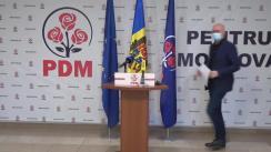 Briefing de presă susținut de Președintele Partidului Democrat din Moldova, Pavel Filip, privind poziția partidului față de actualitatea politică din țară și acțiunile ulterioare