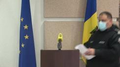 Briefing de presă organizat de Inspectoratul General al Poliției cu privire la măsurile de asigurare a ordinii publice și securității circulației rutiere în timpul desfășurării protestului care va avea loc duminică, 6 decembrie, în capitală