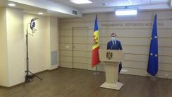 """Briefing de presă susținut de deputatul Fracțiunii Platforma DA, Dinu Plîngău, cu tema """"Sesizările depuse la Curtea Constituțională pe proiectele votate în ședința plenară din 03.12.2020"""""""