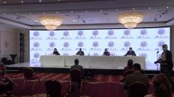 Conferință de presă organizată de echipa OSCE/ODIHR de observatori internaționali la alegerile parlamentare din România
