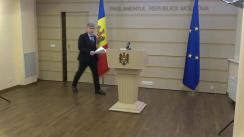 Declarațiile lui Alexandru Jizdan după ședința Parlamentului Republicii Moldova din 7 decembrie 2020