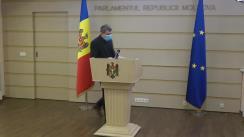 Declarațiile lui Lilian Carp după ședința Parlamentului Republicii Moldova din 7 decembrie 2020