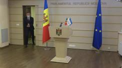Briefing de presă al președintelui Grupului parlamentar PRO MOLDOVA, Andrian Candu