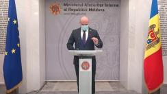 Briefing de presă susținut de Ministrul Afacerilor Interne, Pavel Voicu
