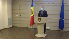 Briefing de presă susținut de deputatul PSRM, Vlad Batrîncea