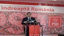 Conferință de presă susținută de președintele PSD, Victor Ponta și purtătorul de cuvânt Dan Șova