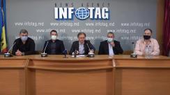 """Conferință de presă organizată de mai mulți antrenori și reprezentanți ai cluburilor de fotbal cu tema """"Alegerile la Federația Moldovenească de Fotbal"""""""