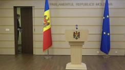 Conferință de presă susținută de deputații Fracțiunii Platforma DA, Alexandru Slusari, Inga Grigoriu, Stela Macari, Arina Spătaru și Igor Munteanu privind politica bugetar-fiscală pe anul viitor