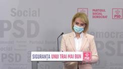 Conferință de presă susținută de Prim-vicepreședintele PSD, Gabriela Firea