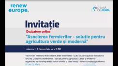 """Conferință organizată de Cristian Ghinea și Vlad Botoș, Renew Europe cu tema """"Asocierea fermierilor - soluție pentru agricultura verde și modernă"""""""
