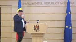 Briefing de presă susținut de deputații Partidului Socialiștilor din Republica Moldova