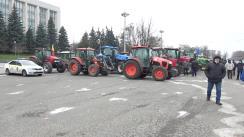Protestul agricultorilor în Piața Marii Adunări Naționale