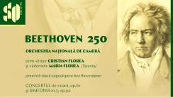 Concert organizat de Sala cu Orgă - Beethoven 250, cu participare Orchestrei Naționale de Cameră, prim-dirijor Cristian Florea, solistă - Maria Florea, vioară/Spania
