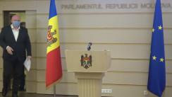 Declarație de presă susținută de deputații PSRM, Vasile Bolea și Grigore Novac