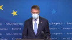 Declarația de presă susținută de Președintele României, Klaus Iohannis, înaintea participării la reuniunea Consiliului European