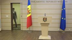 """Briefing de presă susținut de deputatul Fracțiunii Platforma DA, Dinu Plîngău, cu tema """"Promovarea judecătorilor la Curtea Supremă de Justiție"""""""