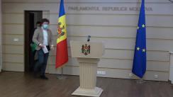 Briefing de presă susținut de deputații Partidului Acțiune și Solidaritate, Dan Perciun și Ion Groza