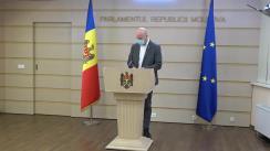 Briefing de presă susținut de deputatul Partidului Acțiune și Solidaritate, Vladimir Bolea