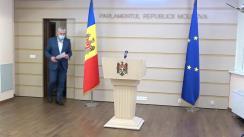 Briefing de presă susținut de deputații Platformei Demnitate și Adevăr, Alexandru Slusari și Vasile Năstase