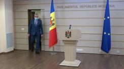 Briefing de presă susținut de deputații fracțiunii Platforma DA în timpul ședinței Parlamentului Republicii Moldova din 16 decembrie 2020