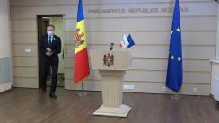 Briefing de presă susținut de deputații Grupului parlamentar PRO MOLDOVA în timpul ședinței Parlamentului Republicii Moldova din 16 decembrie 2020