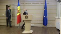Briefing de presă susținut de fracțiunea PSRM în timpul ședinței Parlamentului Republicii Moldova din 16 decembrie 2020
