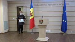 Declarațiile Reghinei Apostolova în timpul ședinței Parlamentului Republicii Moldova din 16 decembrie 2020
