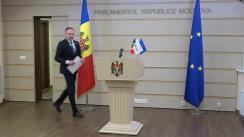 Briefing de presă susținut de Președintele Grupului parlamentar PRO MOLDOVA, Andrian Candu