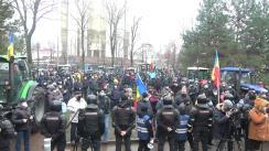Protestul agricultorilor în fața Parlamentului Republicii Moldova
