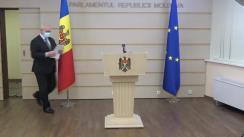 """Briefing de presă susținut de deputatul Chiril Moțpan cu tema """"Răpirea cetățenilor de către regimul de la Tiraspol - subiect tabu în CUC (Comisia Unificată de Control)"""""""