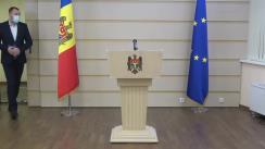 Briefing de presă susținut de deputatul Partidului Acțiune și Solidaritate, Petru Frunze