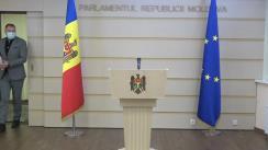 Briefing de presă susținut de către deputatul Partidului Acțiune și Solidaritate, Petru Frunze