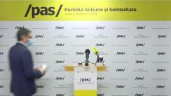 Briefing de presă susținut de reprezentanții Partidului Acțiune și Solidaritate