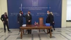 Semnarea Acordului de parteneriat strategic, comerț și cooperare între Republica Moldova și Regatul Unit al Marii Britanii și Irlandei de Nord