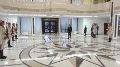 Transmiterea puterii de către Președintele Republicii Moldova, Igor Dodon, al cărui mandat a expirat, Președintelui Republicii Moldova, Maia Sandu. Ceremonial militar-protocolar