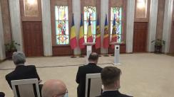 Declarații de presă susținute de Președintele Republicii Moldova, Maia Sandu, și Președintele României, Klaus Iohannis