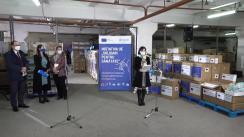 Donație de echipamente din partea Uniunii Europene și OMS, pentru instituțiile medicale din Republica Moldova