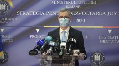 Conferință de presă susținută de Ministrul Justiției din România, Stelian Ion
