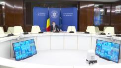 Videoconferință organizată de Prim-ministrul României, Florin Cîțu, cu prefecții, în sistem online