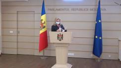 """Briefing de presă susținut de deputatul Platformei parlamentare """"Pentru Moldova"""", Ruxanda Glavan"""