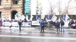 Protest organizat de Federația PUBLISIND
