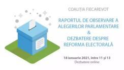 Evenimentul de lansare a raportului final de observare a alegerilor parlamentare din 5-6 decembrie, publicat de coaliția FiecareVot