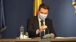 Conferință de presă susținută de ministrul Transporturilor și Infrastructurii din România, Cătălin Drulă